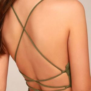 Beach day olive green backless